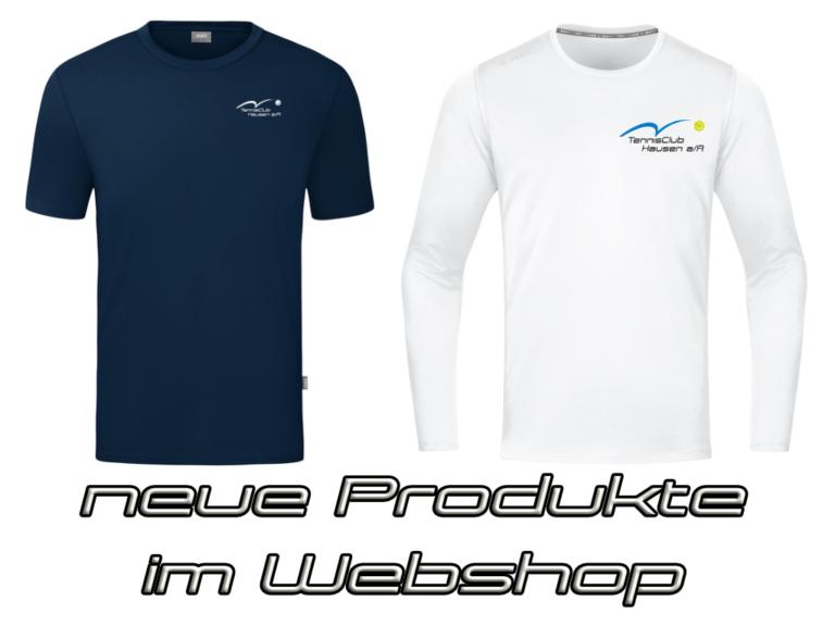 Neue Produkte im TCH Webshop erhältlich